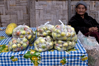 Fruit seller, Pakbeng, Laos