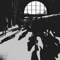 Into the morning sun, King's Cross, London
